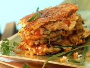 Rosti with Vegetable Tartare recipe