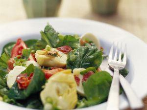 Salad with Artichokes and Ham recipe