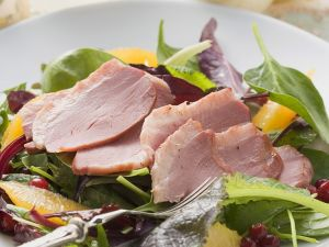 Salad with Duck, Oranges and Cranberries recipe