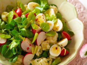 Salad with Quail Eggs recipe