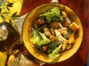 Salad with Turkey Strips recipe