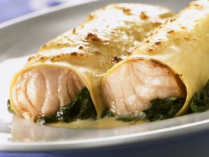 Salmon and Spinach Cannelloni recipe