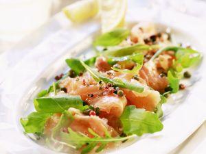 Salmon Carpaccio with Arugula recipe