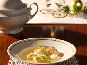 Salmon Soup with Pike Dumplings recipe
