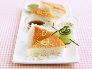 Salmon Sushi Triangles recipe