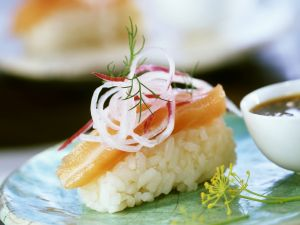 Salmon Sushi with Daikon recipe