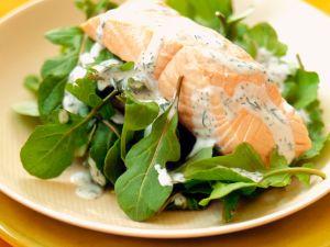 Salmon with Arugula Salad recipe