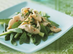 Salmon with Mint and Cucumber recipe