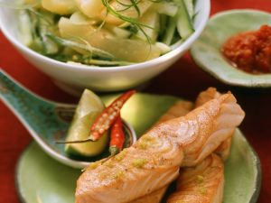 Salmon with Potato Salad recipe