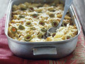 Sauerkraut and Olive Gratin recipe