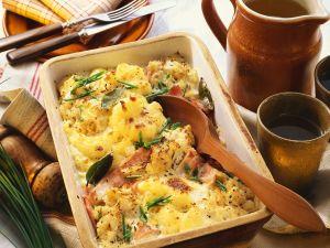 Sauerkraut and Potato Bake with Smoked Pork recipe
