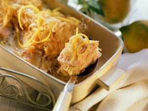 Sauerkraut and Salmon Gratin recipe