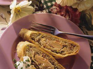 Sauerkraut Strudel with Smoked Salmon recipe