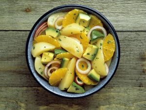 Savory Fruit Salad recipe