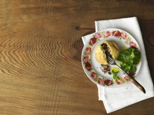 Savory Rolls with Venison Ham and Mushroom Filling recipe