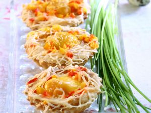 Savory Tartlets with Eggs and Cheese recipe