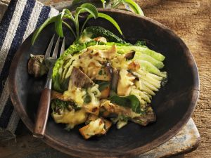 Savoy Cabbage Baked with Mushrooms recipe