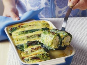 Savoy Cabbage Leaves Stuffed with Fish and Potatoes recipe