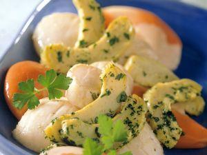 Scallops with Marinated Artichokes recipe