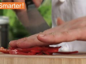 The Fastest Way To Slice A Bell Pepper