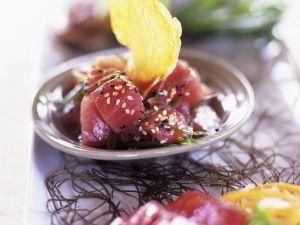 Tuna Cubes with Sesame recipe