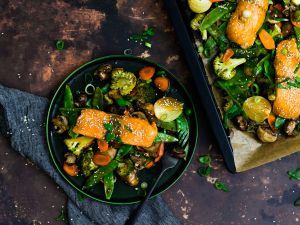 Sheet Pan Teriyaki Salmon with Sesame Vegetables recipe