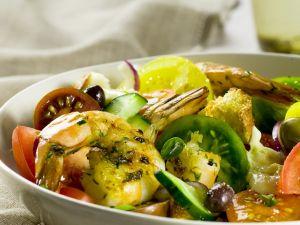 Shrimp, Tomato, and Bread Salad recipe