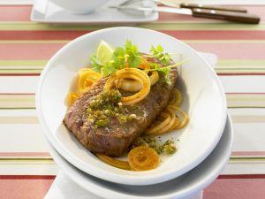 Sirloin Steak with Herb Sauce recipe
