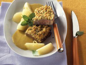 Sirloin Steak with Mustard Sauce recipe