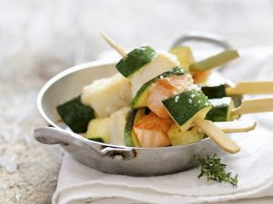 Skewers with Fish and Zucchini recipe