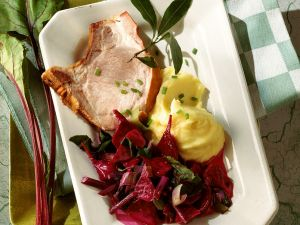 Smoked Pork Chop with Vegetables recipe