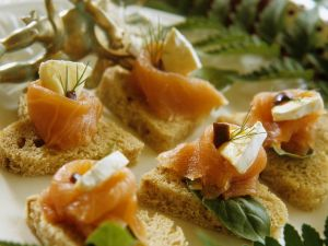 Smoked Salmon and Cheese Appetizers recipe