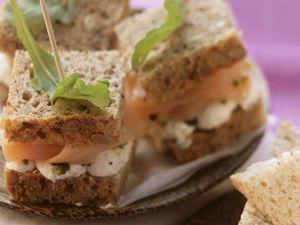 Smoked Salmon and Cucumber Tea Sandwiches recipe
