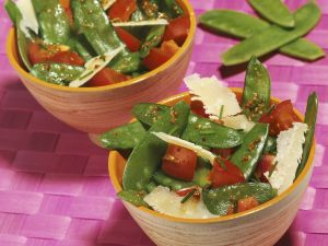 Snow Pea Salad with Shaved Parmesan recipe