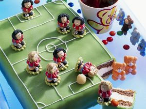 Soccer Cake with Decorations recipe