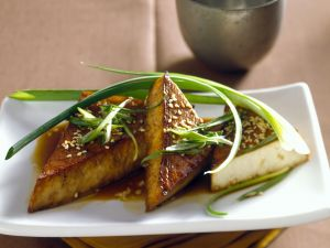 Soya Triangles with Scallions recipe
