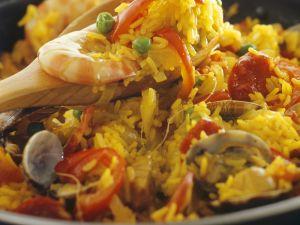 Spanish Rice Dish (paella) recipe
