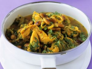 Spicy Chicken Curry with Almonds recipe