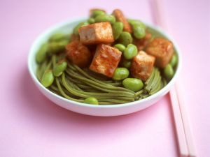 Spicy Noodles with Tofu recipe