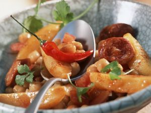 Spicy Sausage and Potato Stew recipe