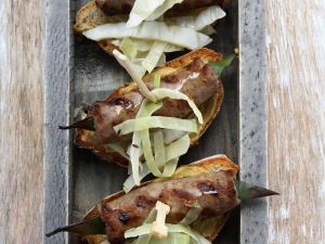 Spicy Sausage Crostini recipe