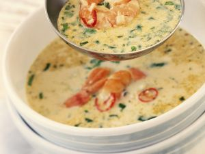 Spicy Soup with Shrimp recipe