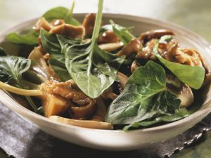 Spinach and Mushroom Salad recipe