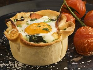 Spinach, Bacon and Egg Pie recipe