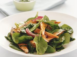 Spinach Salad with Cilantro Vinaigrette recipe
