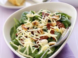 Spinach, Sun-Dried Tomato, and Gouda Salad recipe