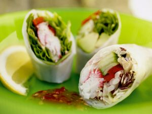 Healthy Asian Wrappers recipe