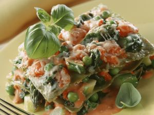 Spring Vegetable Lasagne recipe
