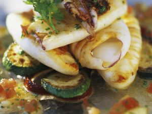 Squid and Octopus with Vegetables recipe