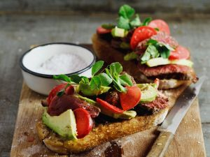 Steak Sandwiches with Avocado recipe